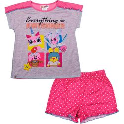 Lego Movie Big Girls 2-pc. Everything Is Awesome Pajamas