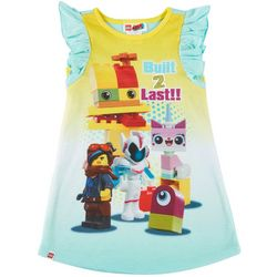 Lego Movie Toddler Girls Built To Last Ruffle Nightgown