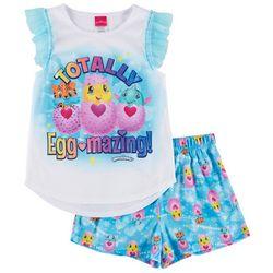 Hatchimals Little Girls Totally Eggmazing Pajama Set