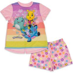 Hatchimals Little Girls Egg Print Pajama Shorts Set