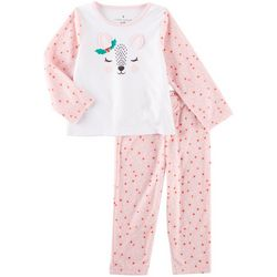 Laura Ashley Toddler Girls Reindeer Dot Pajama Set