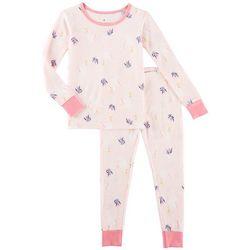 Laura Ashley Little Girls Swan Princess Pajama Set