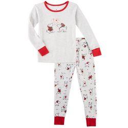 Laura Ashley Little Girls Scotties Pajama Set