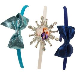 Disney Frozen II Girls 3-pk. Glitter Bow Headbands