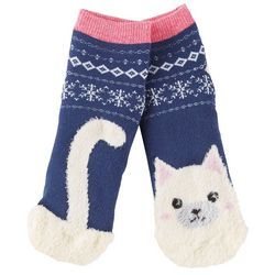 Cuddl Duds Girls Kitten Slipper Socks