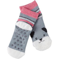 Cuddl Duds Girls Dog Slipper Socks