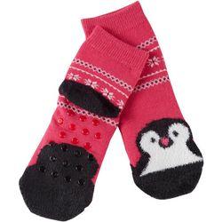 Cuddl Duds Girls Penguin Slipper Socks
