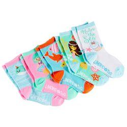 Limited Too Girls 5-pk. Mermaid Crew Socks