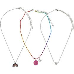 Capelli Girls 3-pk. Unicorn, Rainbow & Heart Necklaces