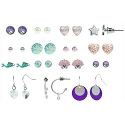Capelli Girls 15-pc Mermaid Earrings Set