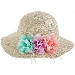Capelli Girls Floral Straw Hat