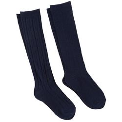 Capelli Girls 2-pk. Solid Knee High Socks