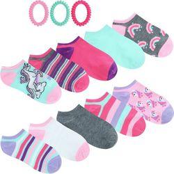 Capelli Girls 10-pk. Unicorn Socks & Hair Ties Set