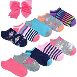 Charlotte Girls 10-pk. Unicorn Dream Socks & Bow Set