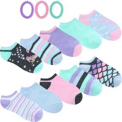 Capelli Girls 10-pk. Mermaid Socks & Hair Ties Set