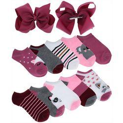 Charlotte Girls 12-pc. Critters Socks & Bows Set