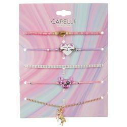 Capelli Girls 5-pk. Animal Bracelet Set