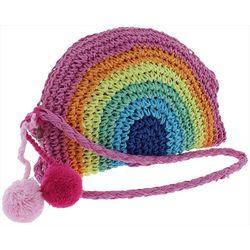 Capelli Girls Woven Rainbow Crossbody Handbag