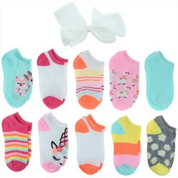 Capelli Girls 20-pk. Best Friends Socks With Bonus Hair Bow