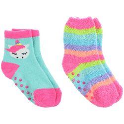 Capelli Girls 2-pk. Unicorn Plush Slipper Socks