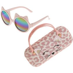 Capelli Girls Cat Ear Sunglasses and Case Set