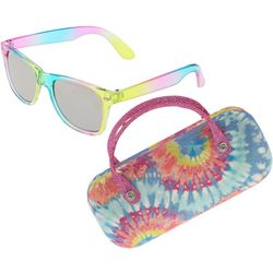 Capelli Girls Tie Dye Sunglasses and Case Set