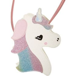 Capelli Girls Pink Rainbow Glitter Unicorn Crossbody Purse