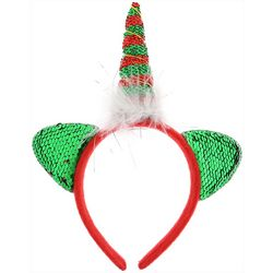 Capelli Girls Sequin Unicorn Holiday Headband