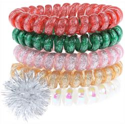 Capelli Girls 5-pk. Holiday Unicorn Spiral Hair Ties