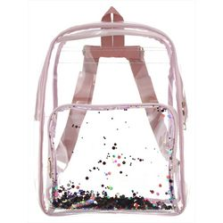 Olivia Miller Girls Clear Confetti Backpack