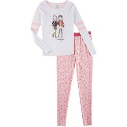 Bebe Big Girls 2-pc. Star Print Pajama Pants Set
