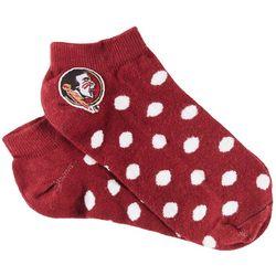 Florida State Girls Polka Dot No Show Socks