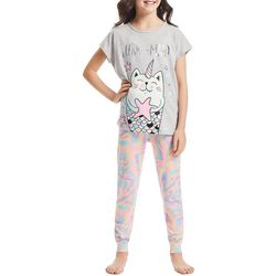 Jelli Fish Inc. Big Girls 3-pc. Purr-Maid Pajama Set