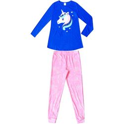Jelli Fish Inc. Big Girls 2-pc. Unicorn Stars Pajama Set