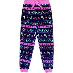 Jelli Fish Inc. Big Girls Fair Isle Jogger Pajama Pants