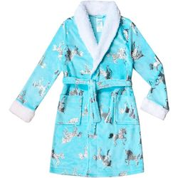 Jelli Fish Inc. Big Girls Foil Unicorn Robe