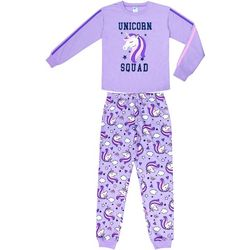 Jelli Fish Inc. Big Girls 2-pc. Unicorn Squad Pajama Set