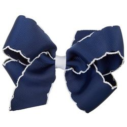 Wee Ones Girls Scalloped Hair Bow