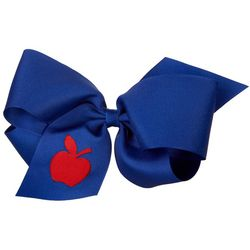 Wee Ones Girls Royal Apple Hair Bow