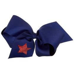 Wee Ones Girls Glitter Star Hair Bow