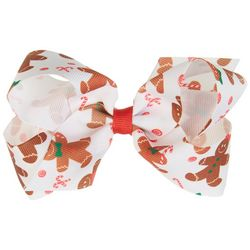 Such A Cutie Girls Gingerbread Bow