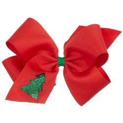 Such A Cutie Girls Christmas Tree Bow