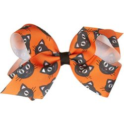 Wee Ones Girls Black Cat Hair Bow