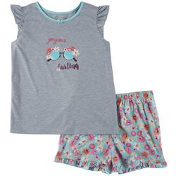 Jessica Simpson Big Girls Gorgeous Darling Pajama Shorts Set
