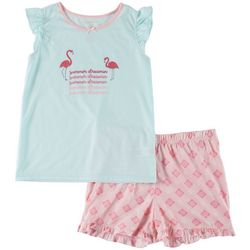 Jessica Simpson Big Girls Summer Dreamin Pajama Shorts Set