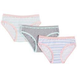Jessica Simpson Big Girls 3-pk. Striped Bikini Panties