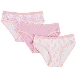 Jessica Simpson Big Girls 3-pk. Pineapple Bikini Panties