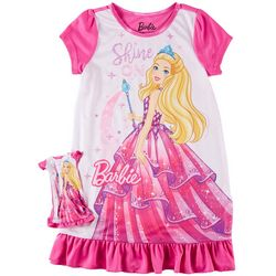 Mattel Barbie Little Girls Shine On Nightgown Set
