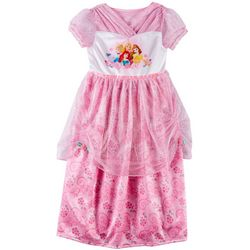 Disney Princess Little Girls Floral Tulle Nightgown