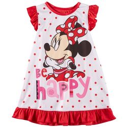 Disney Minnie Mouse Toddler Girls Be Happy Nightgown